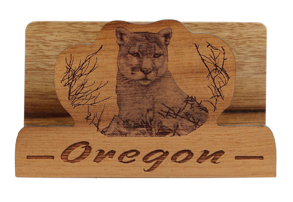 Cougar Laser Cut Business Card Holder