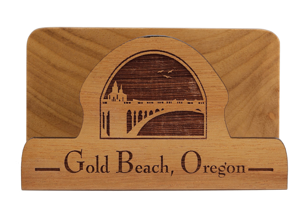 Gold Beach Laser Cut Business Card Holder