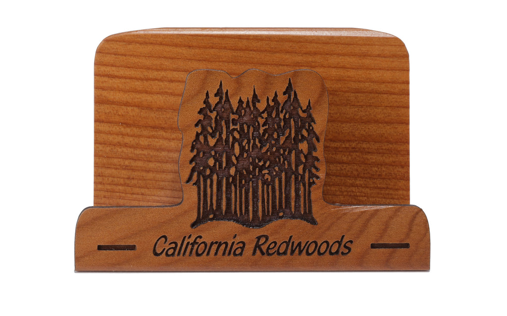 California Redwoods Laser Cut Business Card Holder