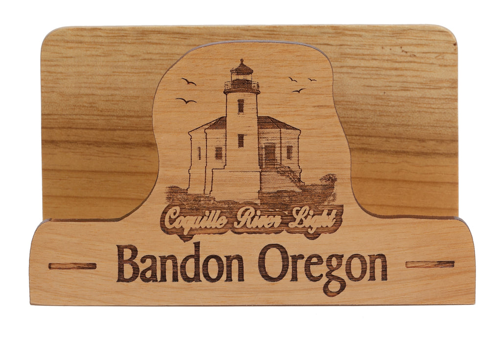 Bandon oregon laser cut business card holder woods of the west bandon oregon laser cut business card holder colourmoves
