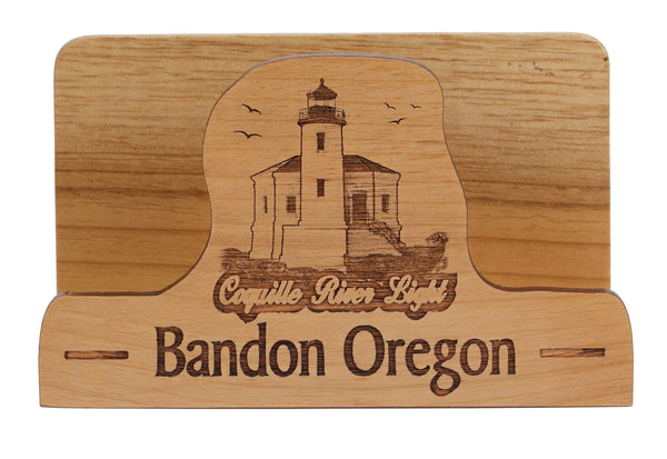 Bandon Oregon Laser Cut Business Card Holder