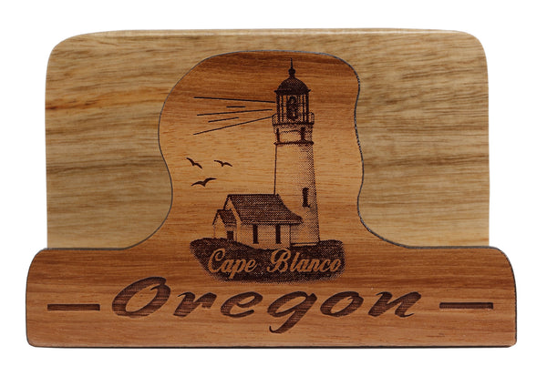 Cape Blanco, Oregon Laser Cut Business Card Holder
