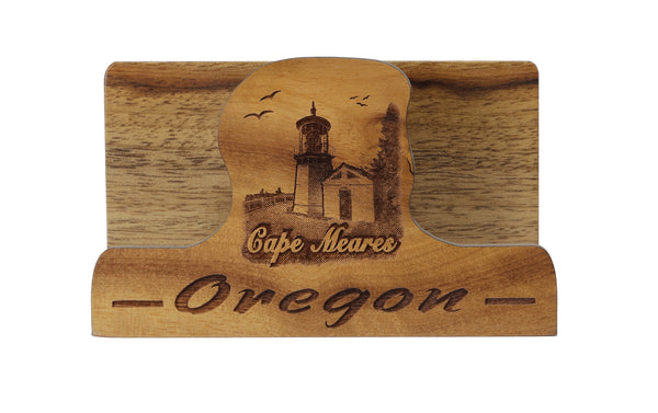 Cape Meares Laser Cut Business Card Holder