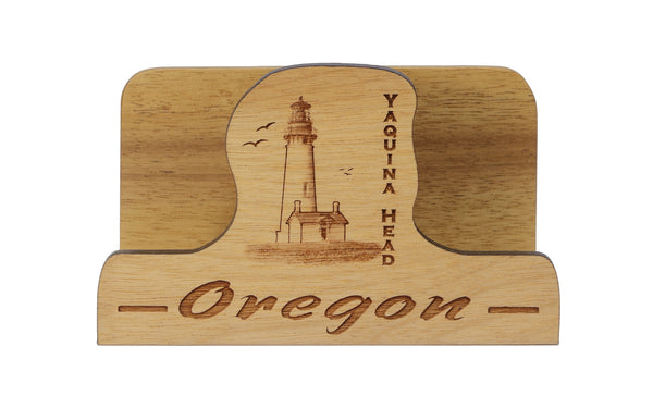 Yaquina Head Laser Cut Business Card Holder