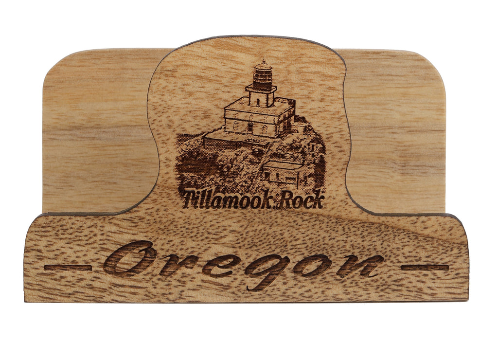 Tillamook Rock Laser Cut Business Card Holder