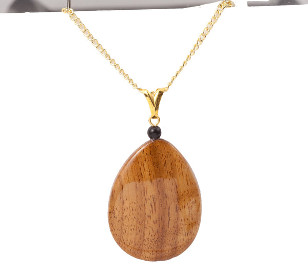 Smoothed Wood Pendant - Larger Size