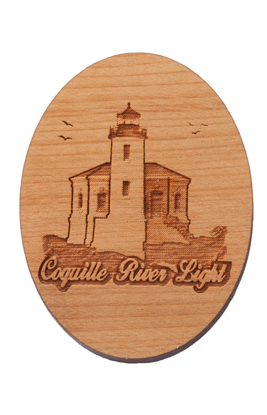 Coquille River Light Keychain or Magnet