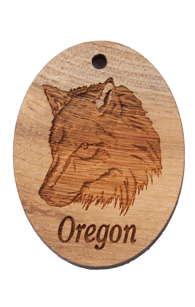 Oregon Wolf Keychain or Magnet