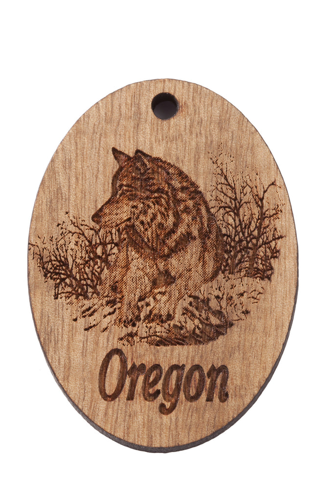 Oregon Wolf Version Two Keychain or Magnet