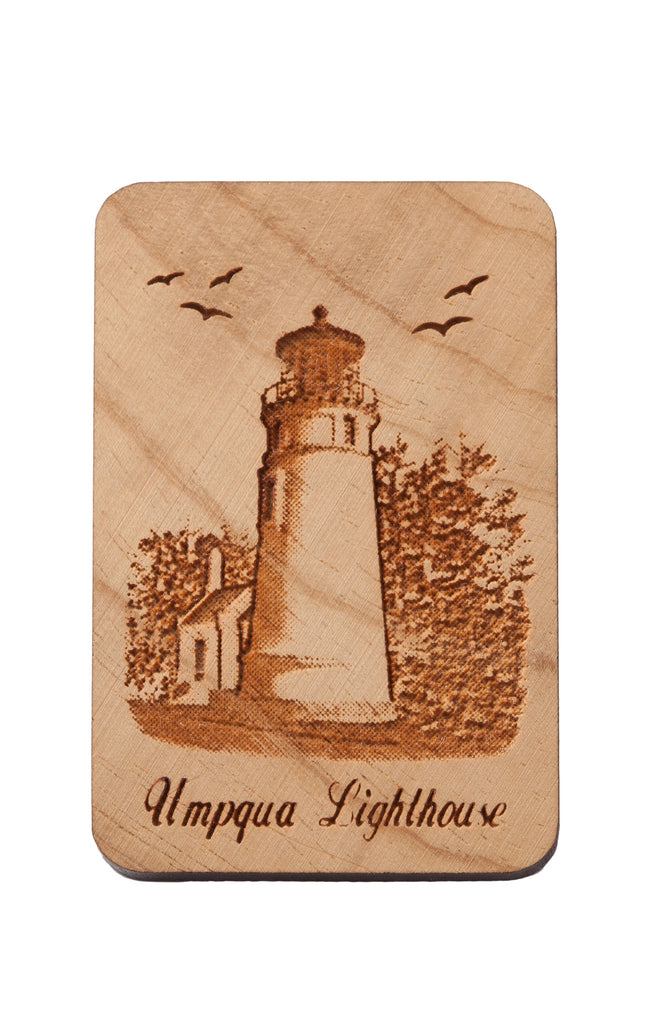 Umpqua Lighthouse Rectangular Keychain or Magnet