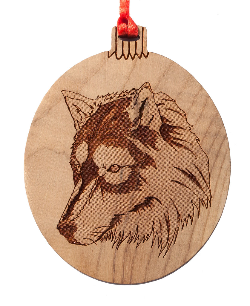 Grey Wolf Ornament