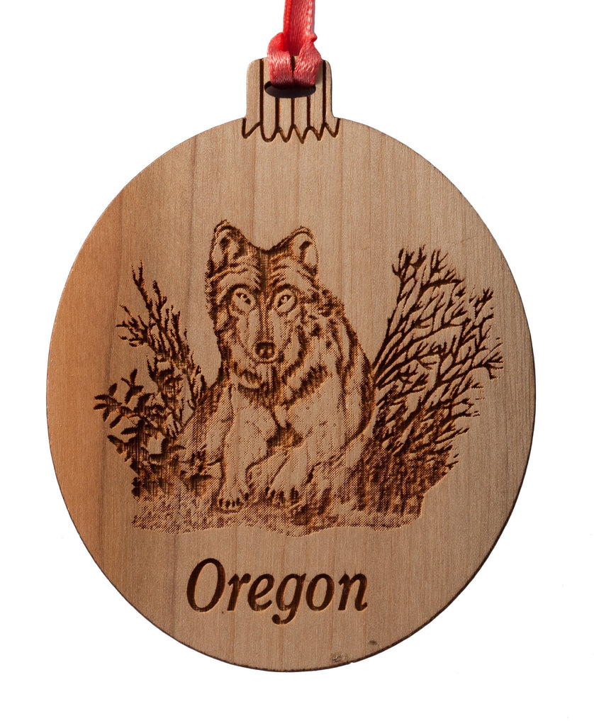 Oregon Wolf Ornament