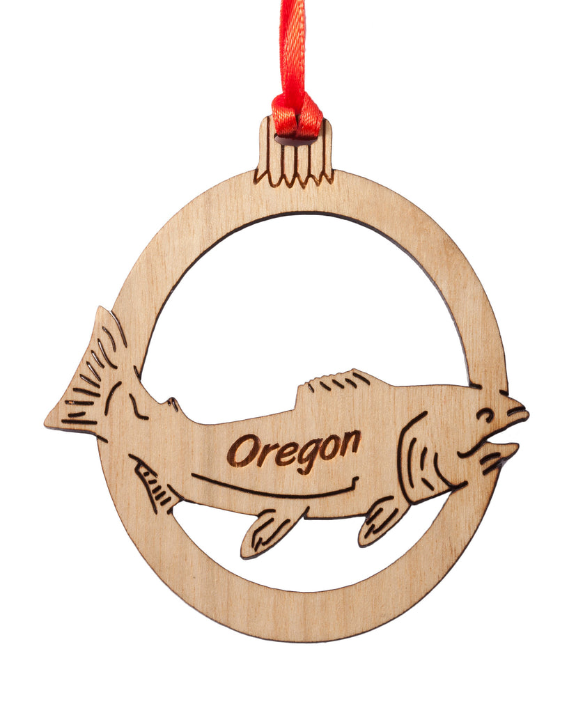 Oregon Salmon Laser Cut Ornament