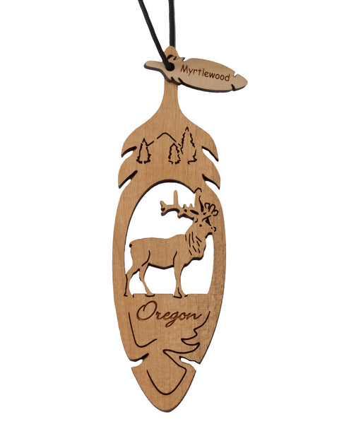 Laser Cut Elk Ornament - Two Sizes