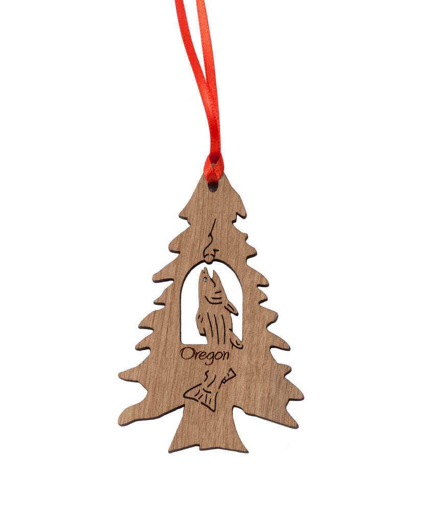 Laser Cut Salmon & Christmas Tree Ornament