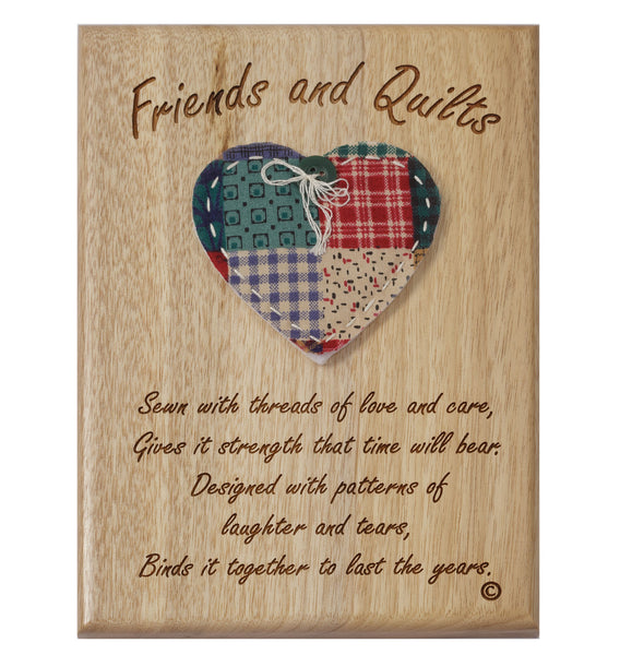 Friends & Quilts Desk or Wall Plaque 5 x 7""
