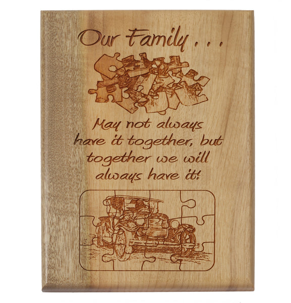 Our Family Desk or Wall Plaque 5 x 7""