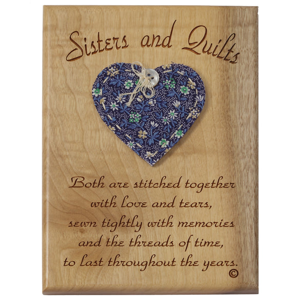 Sisters & Quilts Desk or Wall Plaque 5 x 7""