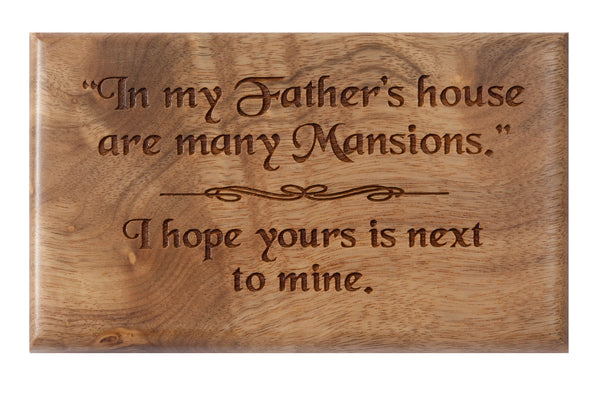 Father's House Desk or Wall Plaque 3 x 5""