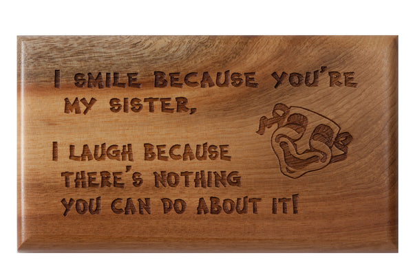 Sister Desk or Wall Plaque 3 x 5""
