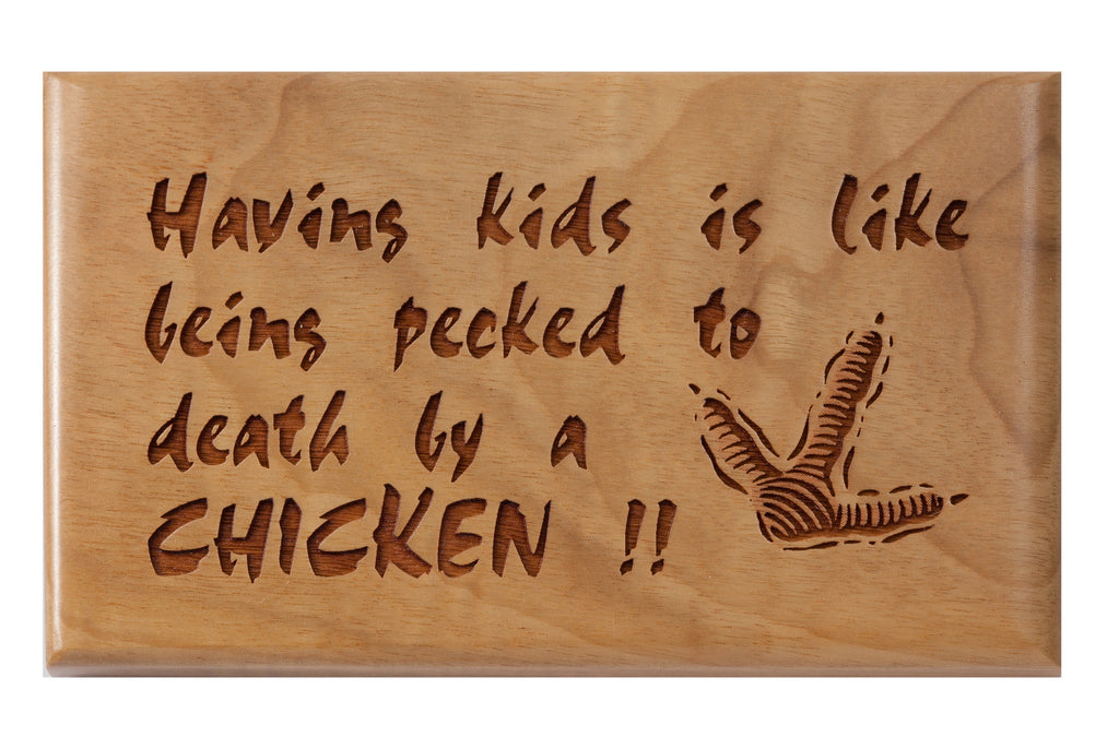Having Kids... Desk or Wall Plaque 3 x 5""