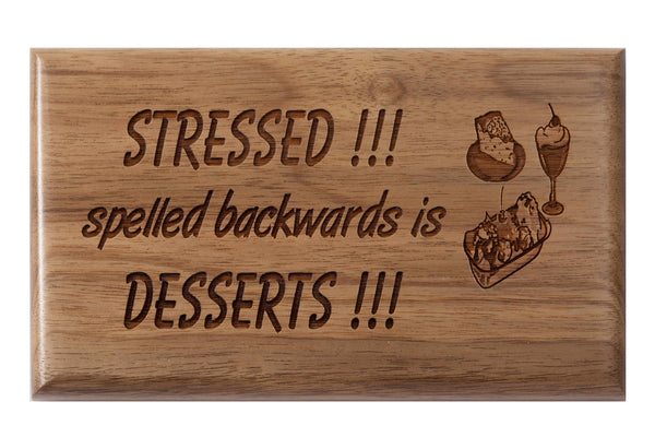 Desserts Desk or Wall Plaque 3 x 5""