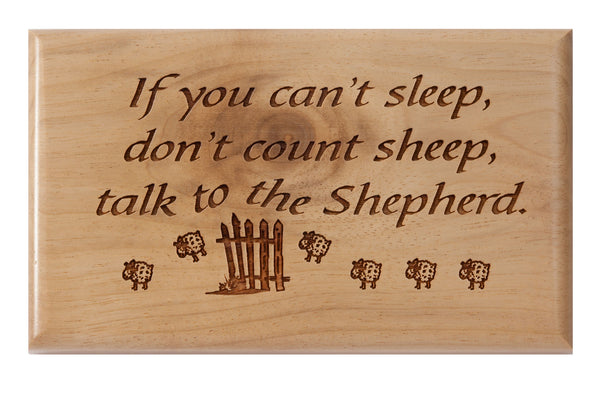 Sheep Desk or Wall Plaque 3 x 5""