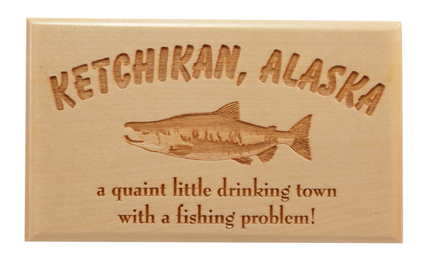 A Fishing Problem... Desk or Wall Plaque 3 x 5""