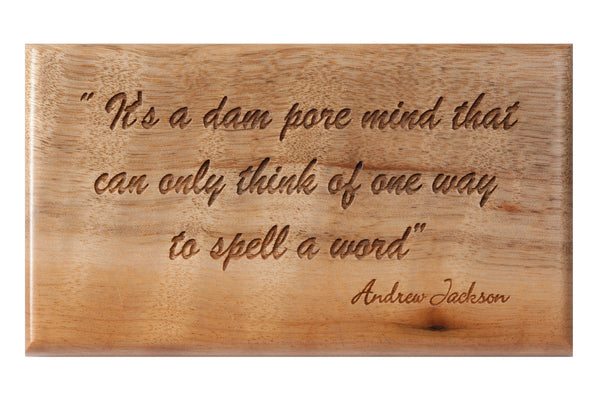On Spelling... Desk or Wall Plaque 3 x 5""
