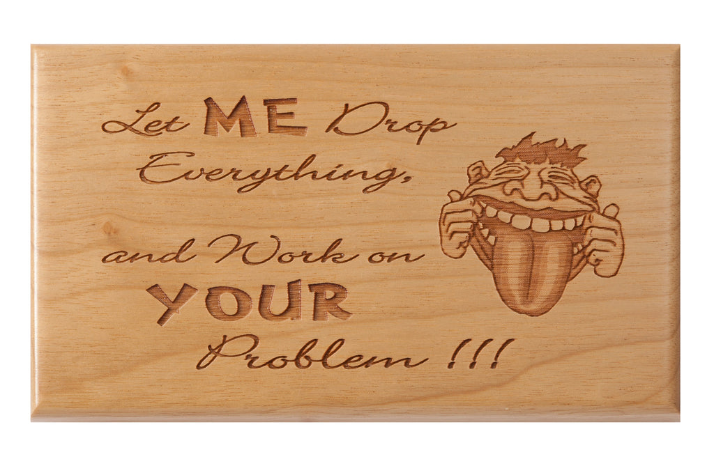 Drop Everything Desk or Wall Plaque 3 x 5""
