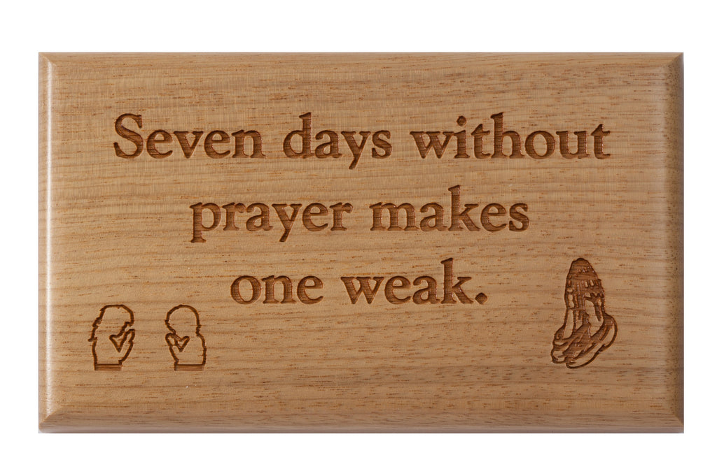 Prayer Desk or Wall Plaque 3 x 5""