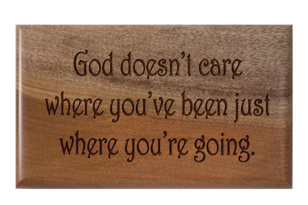 God Cares Desk or Wall Plaque 3 x 5""