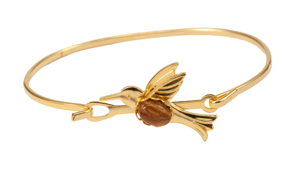 Gold Hummingbird Bracelet