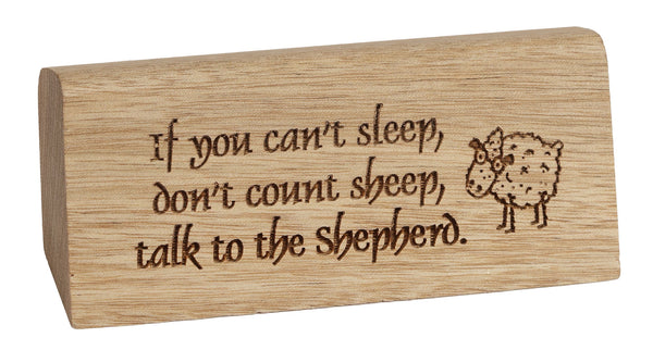Count Sheep Desk Plaque