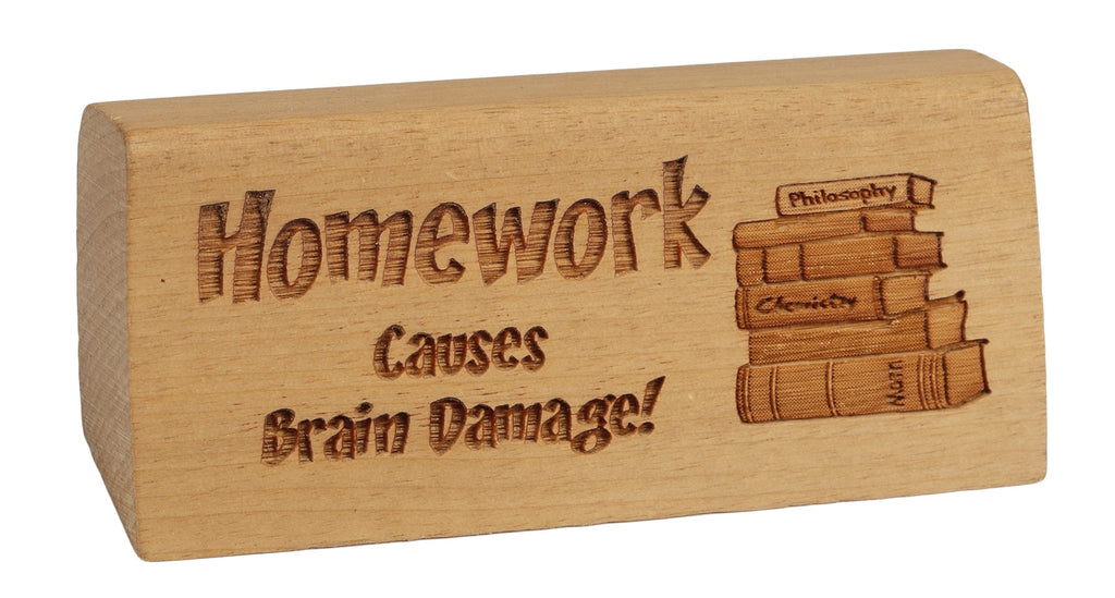 Homework Desk Plaque