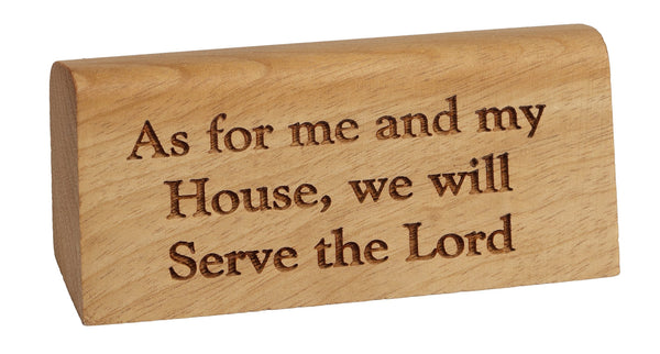 Serve the Lord Break Desk Plaque