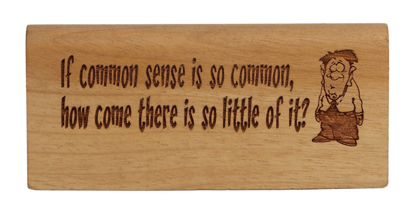 Common Sense Break Desk Plaque