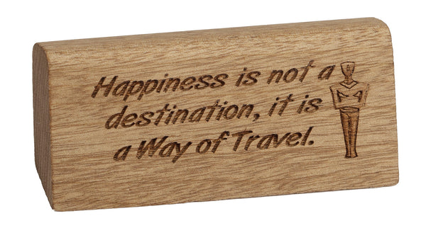Way of Travel Desk Plaque