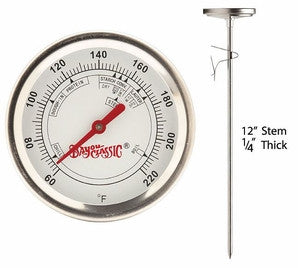 "12"" Stainless Steel Brew Thermometer - Barley & Vine"