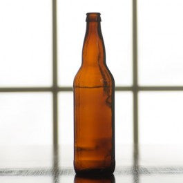 22 ounce Amber Beer Bottles, Case of 12