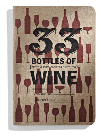 33 Bottles of Wine Tasting Journal - Barley & Vine  - 1