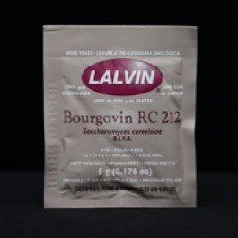 Lalvin RC212  - Wine Yeast (5 Count) - Barley & Vine