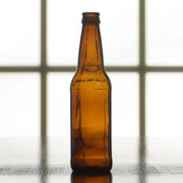 12 ounce Amber Beer Bottles, Case of 24 - Barley & Vine