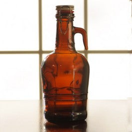 2 Liter Amber Growler with Glass Handle