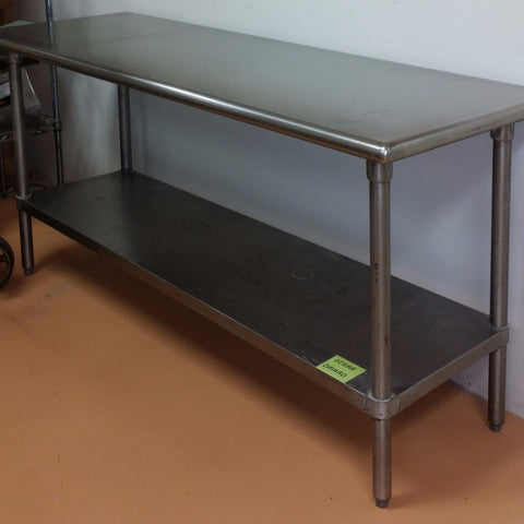 6 foot stainless steel table