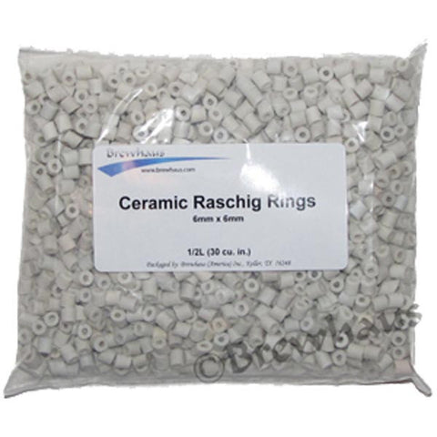 Ceramic Raschig Rings, 1/2L - Barley & Vine