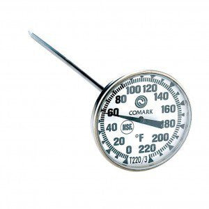 1 3/4 Dial Thermometer, 0-220F - Barley & Vine  - 1