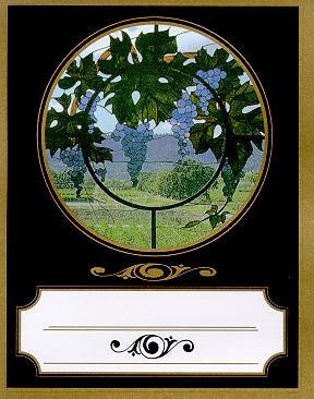 Classic Studios - Stained Glass Wine Bottle Label, 32 per pack - Barley & Vine