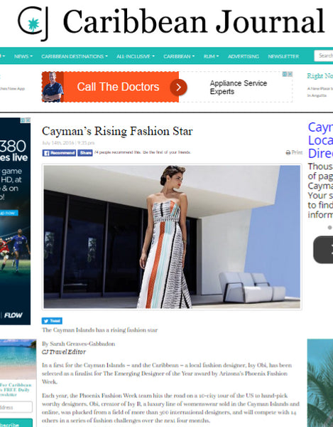 Caribbean Journal: Cayman's Rising Fashion Star