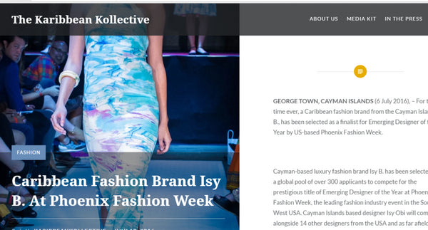 Karibbean Kollective - Caribbean Fashion Brand Isy B At Phoenix Fashion Week